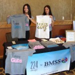 Director of Apparel, Ali Matthews, with the It Takes Guts T-shirts created by 224 Apparel