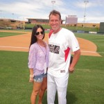 Uniforms by 224 Design. Dan Majerle sporting the look with Ali Matthews.