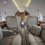 Inside one of our beautiful Hawker 800s.