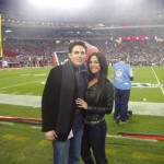 Ali and Jon in Arizona for the Cardinals and 49ers Monday night football game.