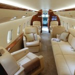 Check out the interior of one of our bigger jets.  Fly comfortably and in style.