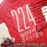 """To 224 Apparel & Design: Thanks 224 Apparel for providing those beautiful shirts and helping raise so much money for the 1st down fund.""- Larry Fitzgerald"